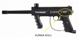 paintball silahı kurma kolu